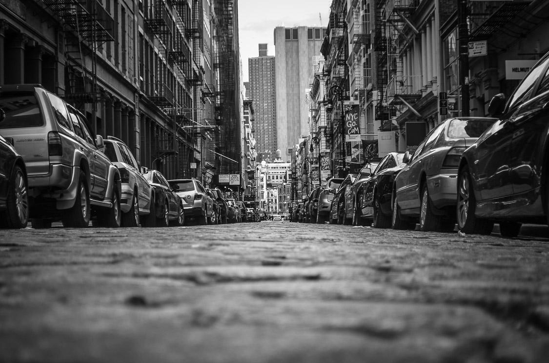 Soho black and white streets