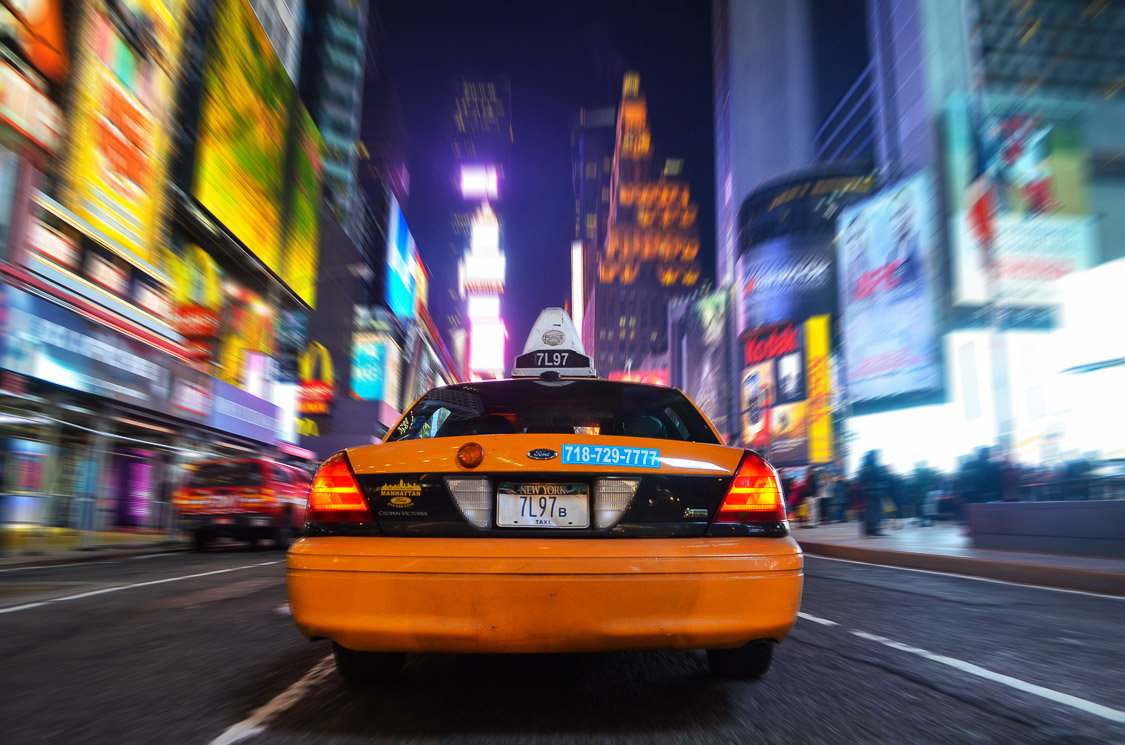 taxi on times square