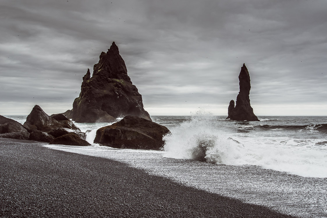 Waves Reynisfjara Black beach Iceland Sebastien Mas