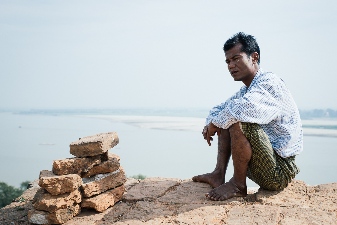 Man sitting in Myanmar
