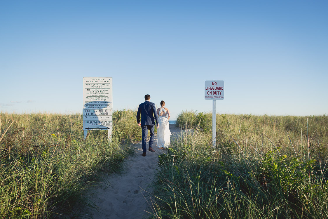 east hampton wedding photography bride groom beach