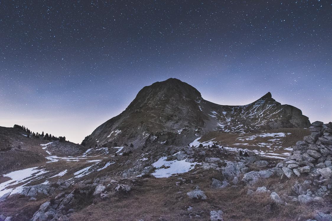 Plateau du grand Veymont de nuit