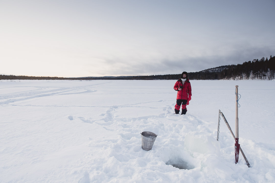 Recherche d'eau Hiver Finlande