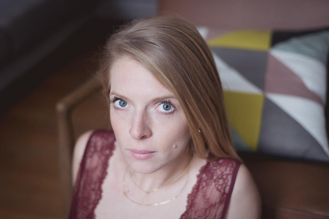 portrait femme blonde